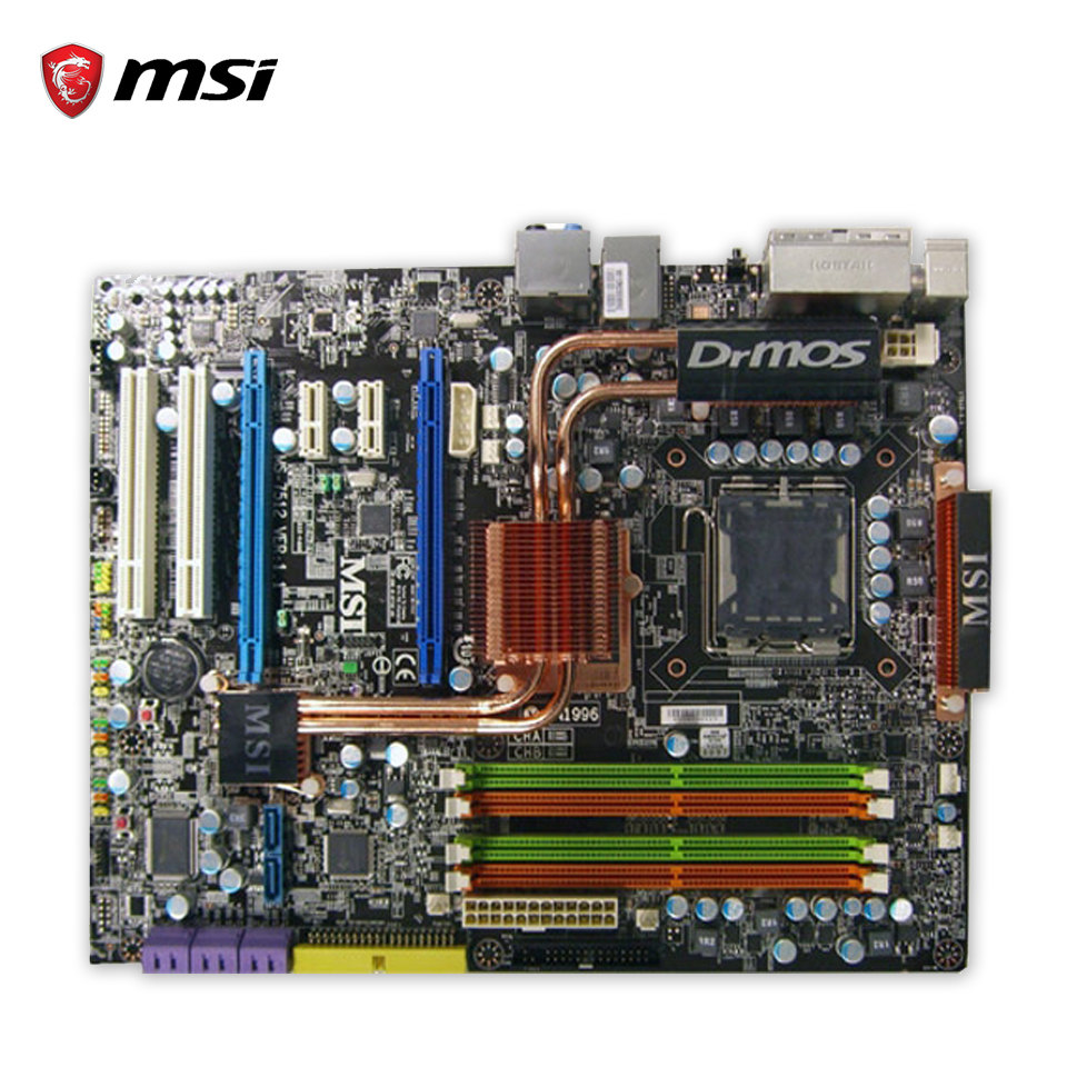 Original MSI PP45 Neo2-FR Desktop Motherboard P45 Socket LGA 775 DDR2 16G SATA2 USB2.0  ATX 100% Fully Test original msi g41m4 l desktop motherboard g41 socket lga 775 ddr2 8g sata2 usb2 0 micro atx 100% fully test
