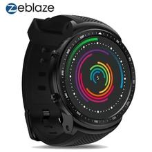 ساعة يد ذكية Zeblaze Thor PRO الجيل الثالث 3G مزودة بنظام تحديد المواقع وخاصية الواي فاي ومعالج MTK6580 رباعي النواة وذاكرة وصول عشوائي 1 جيجابايت/16 جيجابايت ومزودة بتقنية البلوتوث وشاشة بحجم 1.53 بوصات وتقنية النانو سيم ومعدل ضربات القلب ساعة ذكية