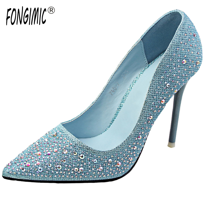 Spring Autumn Women Pumps Sweet Pointed Toe Thin High Heels Pumps Elegant Lady Shallow Shoes Simple Party Color Diamond Pumps spring autumn women pumps pointed toe thin high heels pumps lady casual slip on shallow shoes simple party slim nightclub pumps