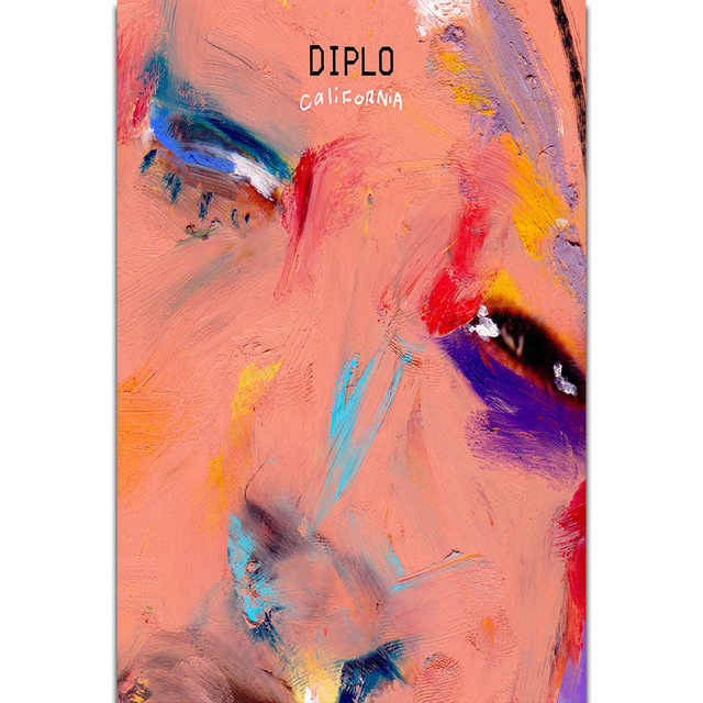 Diplo Art >> Us 5 49 S1911 Album Cover Diplo California Feat Trippie Redd Wall Art Painting Print On Silk Canvas Poster Home Decoration In Painting Calligraphy