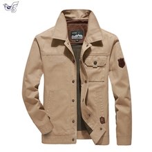 XIYOUNIAO 2019 Mens Jacket Coat M-6XL Casual Solid Men Outerwear Slim Fit Khaki Army Cotton Male Jackets Brand Clothing