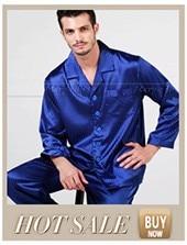 Zijden Satijnen Pyjama Voor Heren