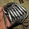 5 Outdoor Camping Equipment Aluminum Carabiner Hunting Equipment Survival Kit Lock Tool D-Ring Keychain Camping Keychain