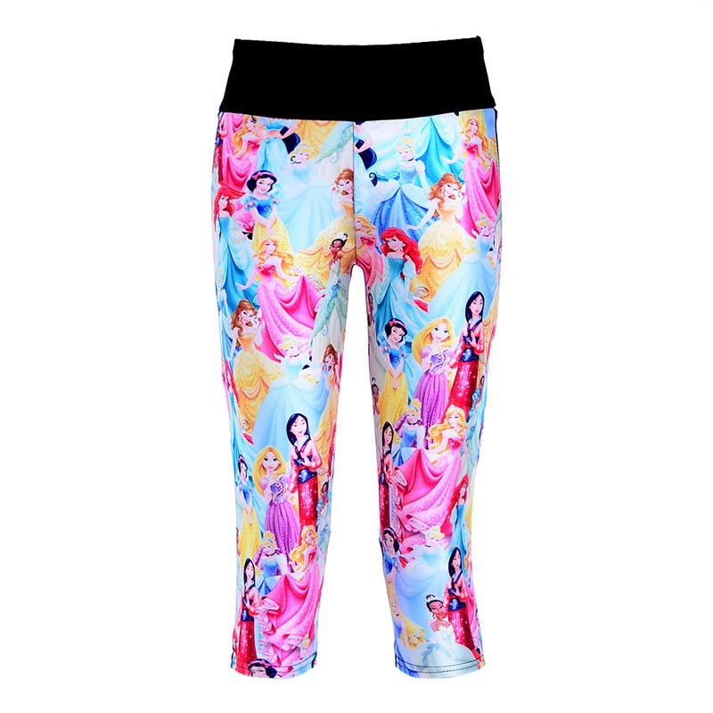 4dcf533474cd5 New 1108 Sexy Girl Women Cartoon Beauty and the Beast 3D Prints Workout  Fitness elastic Cropped Trousers Leggings Pocket Pants-in Pants & Capris  from ...