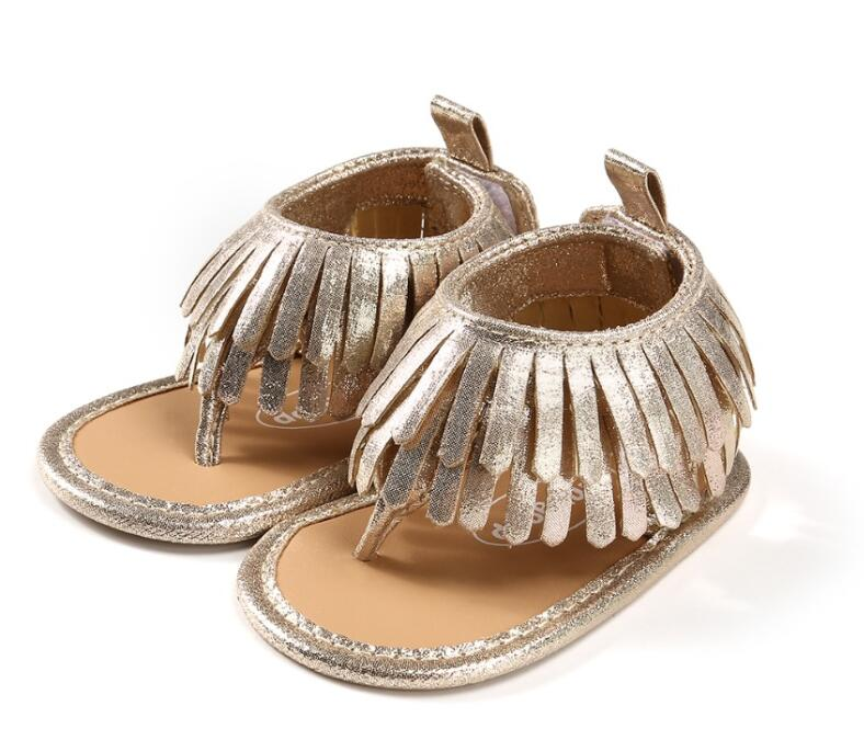 2018 hot sale kid crib sandal shoes Leather Tassels Baby Girl Soft Sole Toddler Shoe Tassels Non-slip fashion Sandals Moccasin