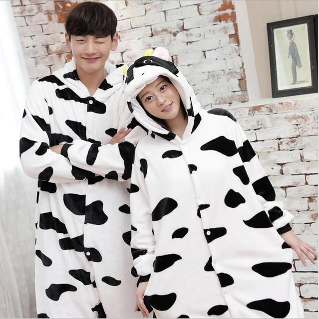 SUPERIOR CALIENTE Al Por Mayor Dinosaurio Vaca Unicornio Unisex Franela Con Capucha Pijamas Traje Cosplay Animal Bodies Pijamas Para Hombres de Las Mujeres