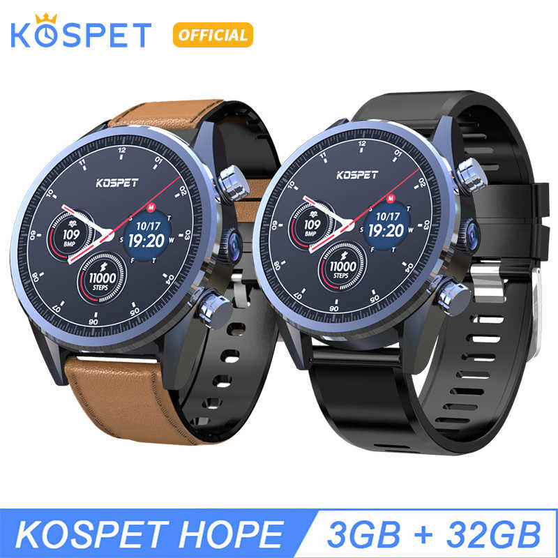 "KOSPET Hope 3GB 32GB Bluetooth GPS 1.39""4G Smartwatch Men Waterproof 8.0MP Camera Sim card Smart Watch Phone For IOS Android"