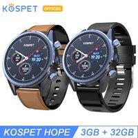 KOSPET Hope 3GB 32GB Bluetooth Android 7.1.1 1.39 4G smartwatch men IP67 Waterproof MT6739 Camera Business Smart Watch Phone