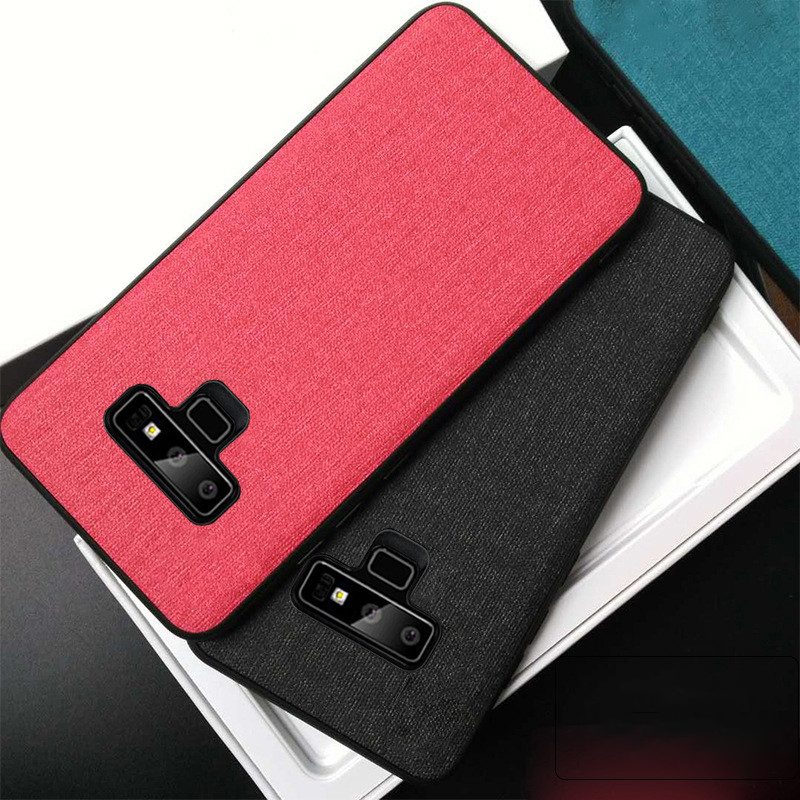 For Samsung Galaxy S10 Note 9 S10 E Case Cloth Back Cover Luxury Samsung Case For S10 E PC TPU