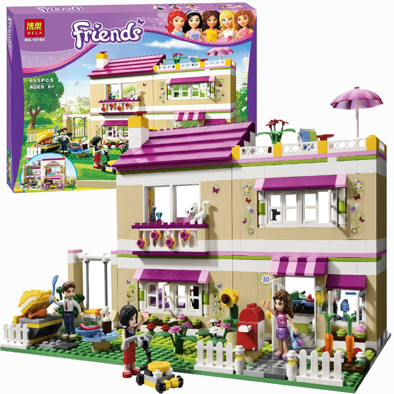 Olivia's House 3315 Building Blocks Model Educational Toys For Children BELA 10164 Compatible with Lego Friend Bricks Figure Set 449pcs bela 10295 laval s fire lion model diy building blocks for children sets classic bricks toys compatible with lego