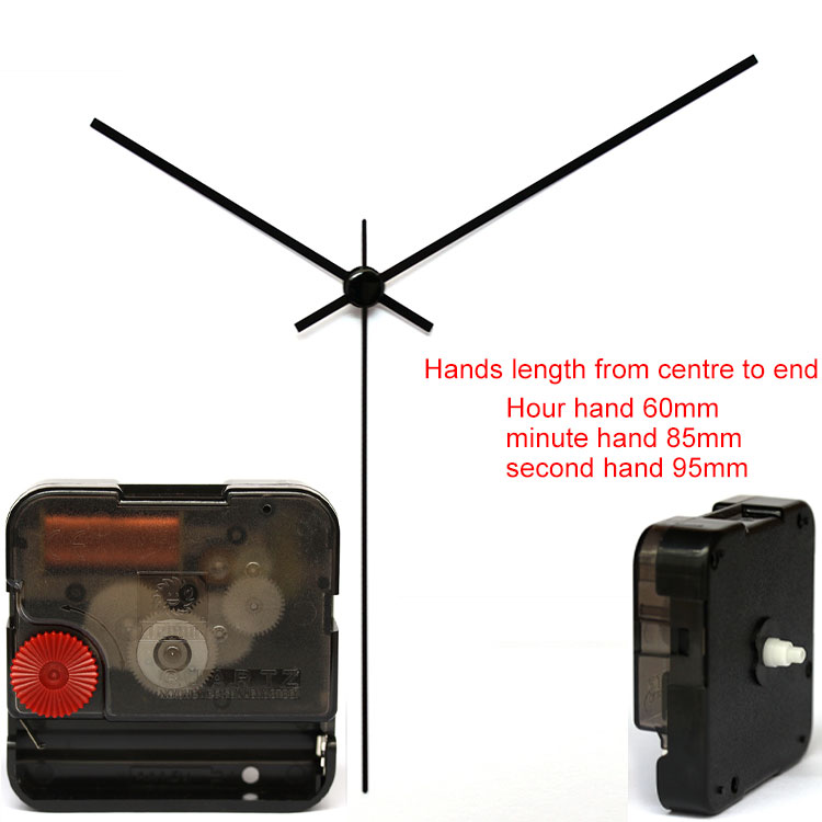 12888SA Snap In Type wall clock mechanism with 95# hands Silent Plastic DIY Clock Accessory kits Sweep Quartz Movement