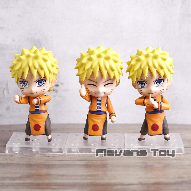 Naruto Shippuden Uzumaki Naruto Sennin Mode / Sakura Haruno Q Version PVC Action Figures Toys Nendoroid Dolls 3pcs/set naruto sakura haruno cosplay boots shoes mp001015