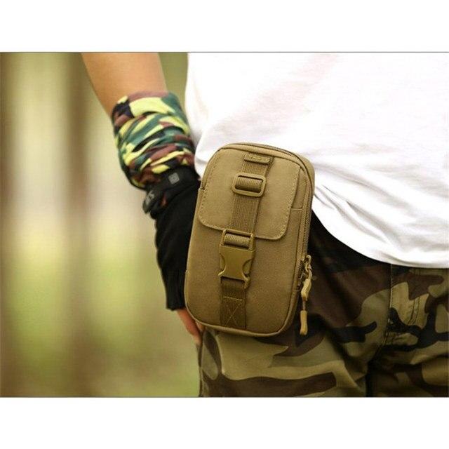 Protector Plus 2018 MOLLE Mini Vice Pocket Multi-function Military Bag Men Waist Packs Waterproof Nylon Waist Bag free holograms