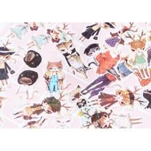 40pcs/lot Animal Fashion Show Sticker Decoration Stickers DIY Planner Scarpbooking sealing Label Children Stationery