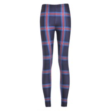Sexy new arrival 2016 Women Pants Womens Trousers Fashion Tartan Navy Toasties printing Pant Capris Fitness