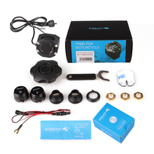 Steelmate Motorcycle TPMS Tire Pressure Monitor Motorcycle Alarm System Waterproof  External Sensor Wireless LCD Display