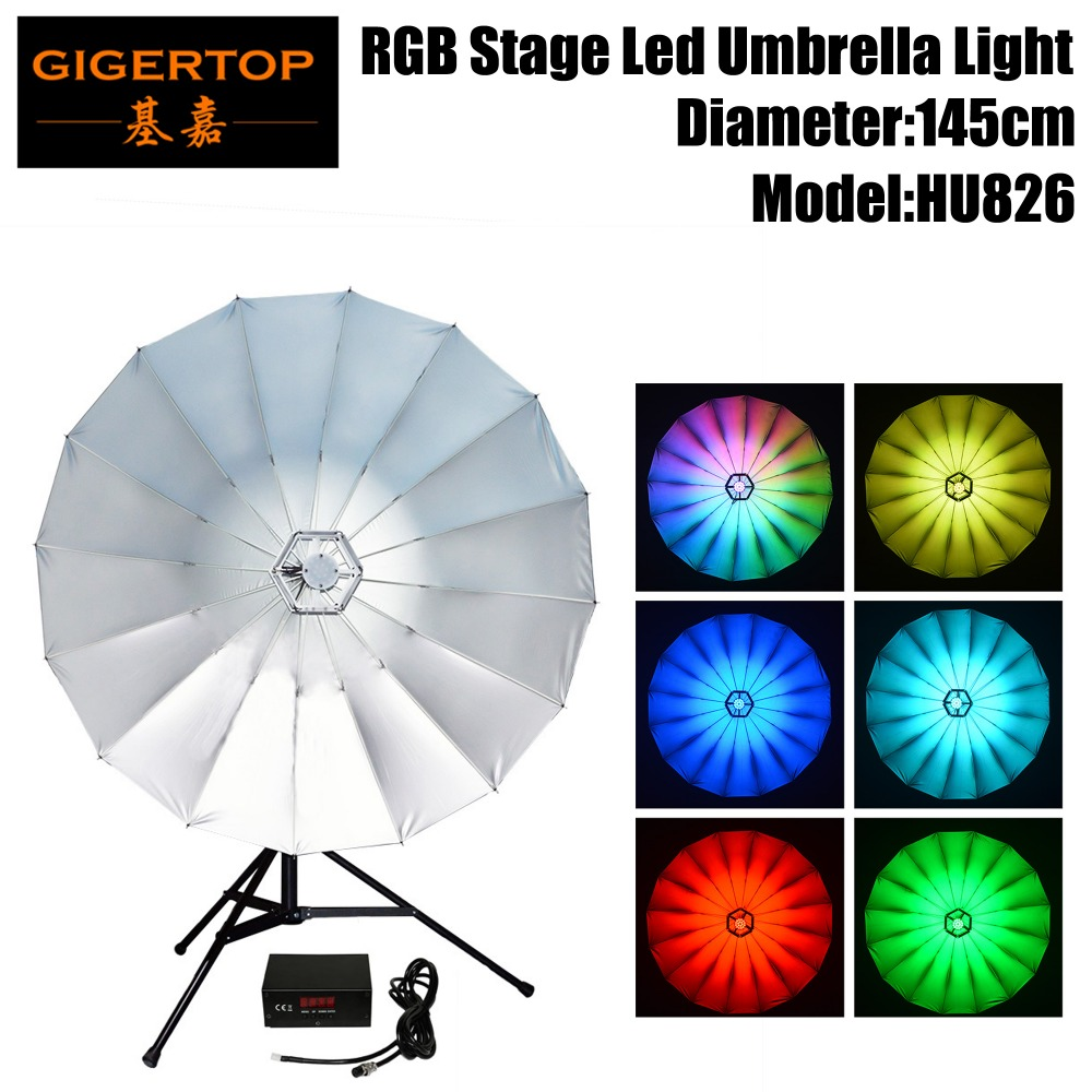 Commercial Lighting Fashion Style New Arrival 34inch Umbrella Light For Photography,studio&stage Application,114pcs 0.2w Rgb Leds,has Rainbow,color Chasing,fade Extremely Efficient In Preserving Heat