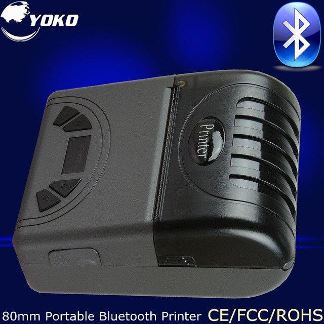 80 мм Портативный Bluetooth Термопринтер Pos Системы