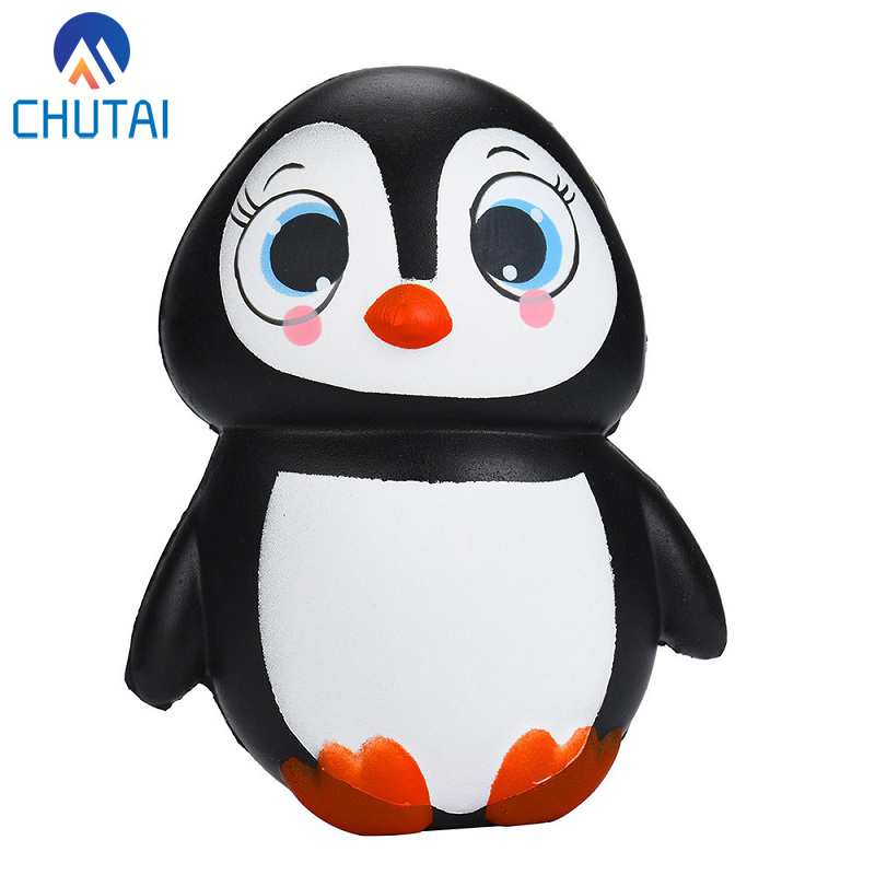 Female Penguin Squishy Slow Rebound Simulation Doll Squeeze Toy Novel Decompression Toys Baby Children Party Gift 13.5*10 CM