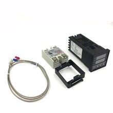 Termostato Digital PID RKC Controlador de Temperatura REX-C100 Salida + SSR 40DA Relé SSR + K Termopar sensor de La Sonda