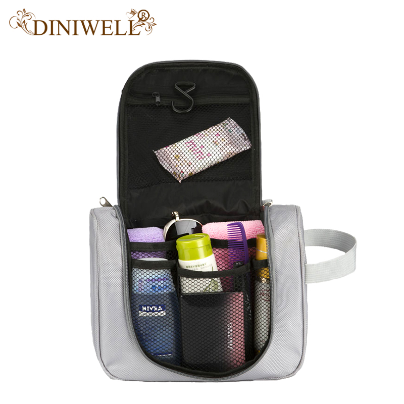 DINIWEL Camping Holiday Travel Toiletry Organizer Wash Bag Makeup Organiser Zipper Mesh Pocket Storage For Make Up Cosmetics