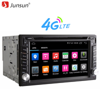 Junsun 4G LTE Universal 2 din GPS Rádio Do Carro DVD jogador Android 6.0 Wi-fi Bluetooth GPS de Navegação double din car multimídia