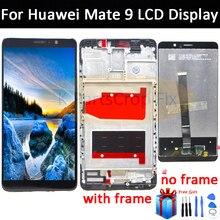 Digitalizador de pantalla táctil de pantalla LCD para HUAWEI Mate 9, repuesto de pantalla de MHA L09 con marco Mate9 MHA L29