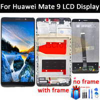 HUAWEI Mate 9 LCD Display Touch Screen Digitizer For Huawei Mate 9 LCD With Frame Mate9 MHA L09 MHA L29 Screen Replacement Parts