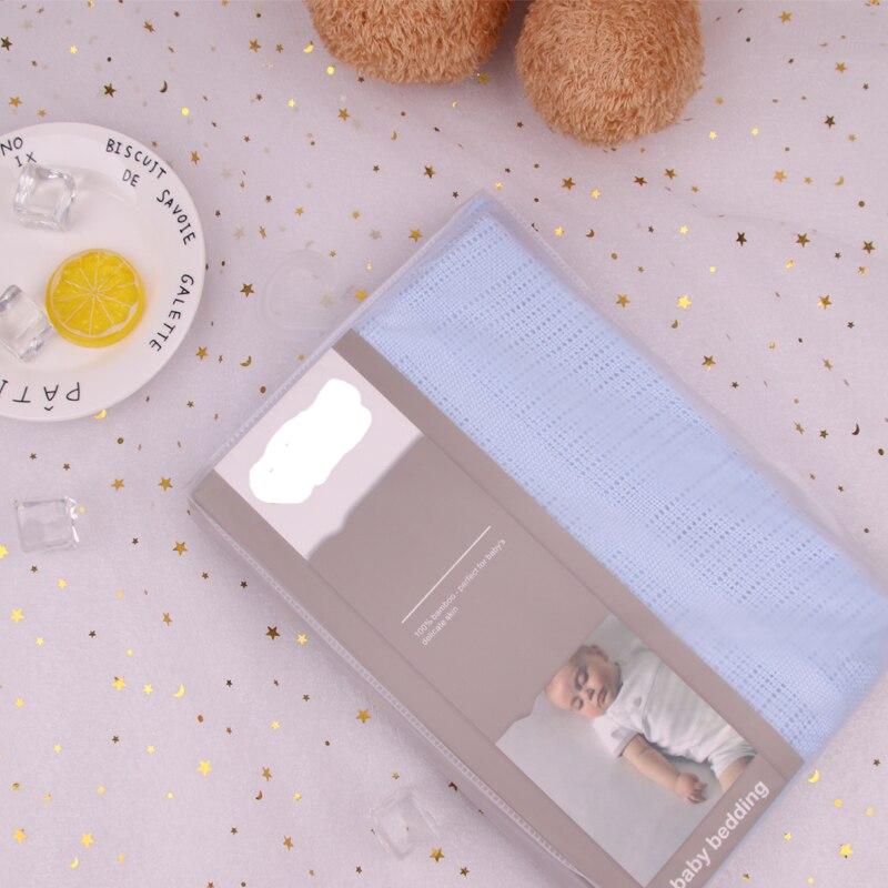 100*140cm bébé bambou couverture tricot bébé couverture mousseline nouveau-né couverture bébé Swaddle sieste réception Wrap literie