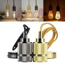 E27 Golden Iron Chandelier Lampholder Edison Bulb LED Ceiling Lamp Holder Decorative Metal Lighting Accessories Dropshipping(China)