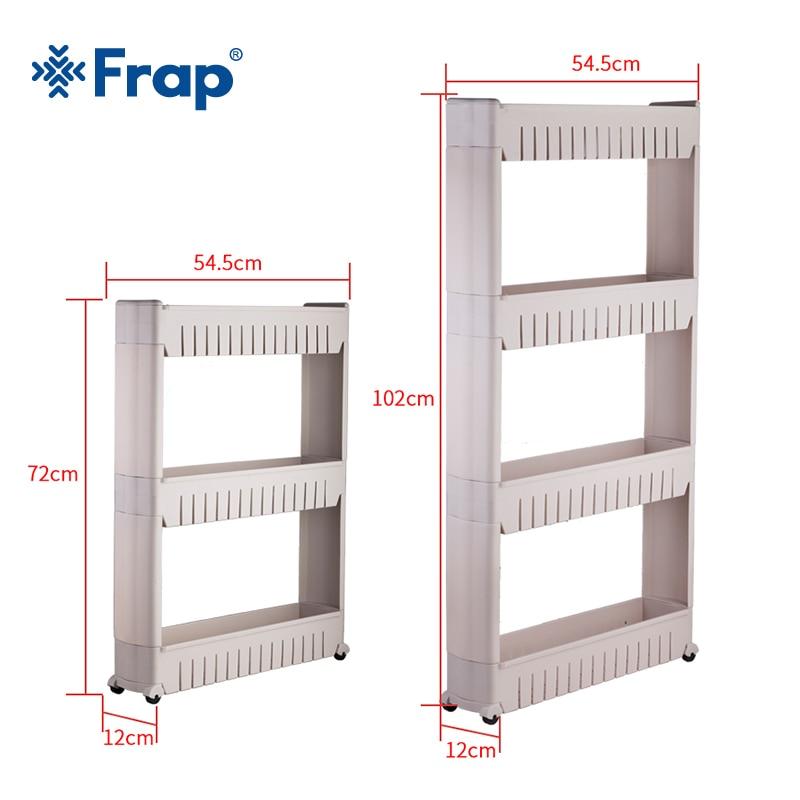 Frap Multipurpose Shelf with Removable Wheels Crack Rack Bathroom Storage Storage Rack Shelf Multi-layer Refrigerator Side Shelf цены