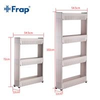 Frap Multipurpose Shelf with Removable Wheels Crack Rack Bathroom Storage Storage Rack Shelf Multi layer Refrigerator Side Shelf|Bathroom Shelves| |  -