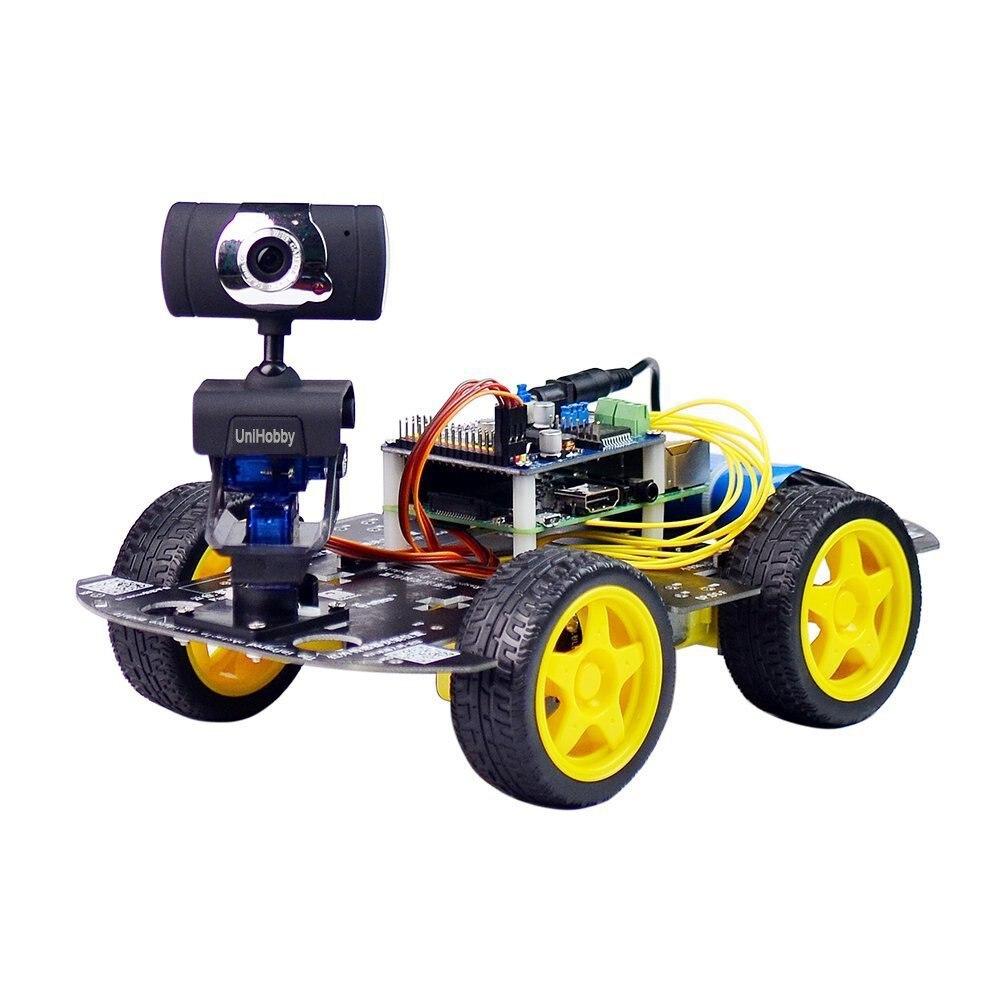 Unihobby DS Беспроводной Wi Fi робот Car Kit для Raspberry Pi 4WD робот шасси комплект (Raspberry Pi не включают)