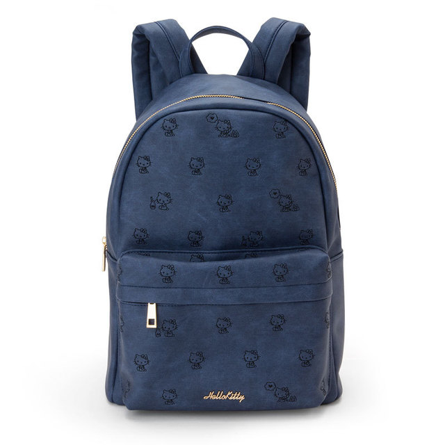 297d35f4e Hello Kitty Bag Blue Denim PU Leather Backpack Children School Bag for  Girls Women Fashion Cute