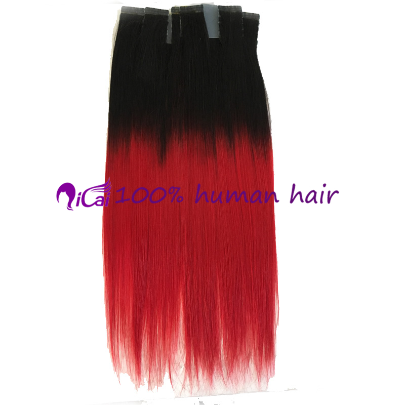 Red tape hair extension brazilian virgin remy human hair silk red tape hair extension brazilian virgin remy human hair silk straight skin weft ombre 2 tone 1bred tape in hair extension in skin weft hair extensions pmusecretfo Choice Image