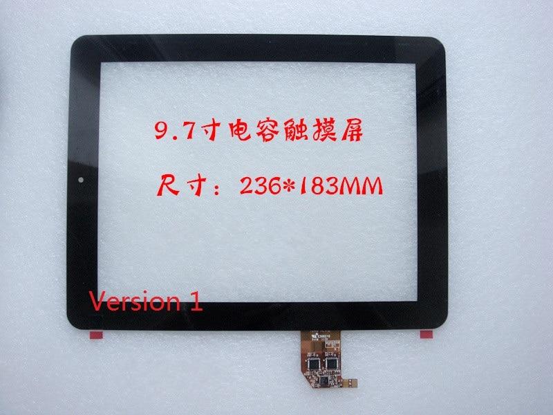 version 1 for Viewsonic ViewPad 10E Vipad W10E VS14445 9.7 touch screen panel Digitizer Glass Sensor  Tablet Free Shipping 10 1inch for viewsonic viewpad 100 tablet pc capacitive touch screen glass digitizer panel