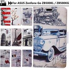 Чжурчжэней Капа чехол для Asus Zenfone Go ZB500KL силиконовый чехол мультфильм Мода ретро Античная флип для ASUS ZB500KL ZB500KG случае 5.0