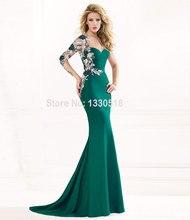 Yığın Abiye hanım abiye uzun elbise Mermaid Aplikler Sevgiliye Uzun Kollu Kat Uzunluk vestidos de fiesta