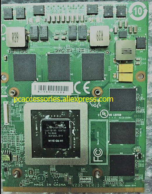 GTX 460M GTX460M CN-0479NV N11E-GS-A1 DDR5 1.5GB VGA Video Card for dell M15X M17X M18X graphic card for asus g73sw vga board gtx 460m n12e gs a1 3gb ddr5 mxmiii laptop g73sw g73jw g53sw g53sx g53jw video card