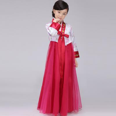 Free Shipping Traditional Child Hanbok Girl Korean National Costume Dance Clothes-in Asia ...