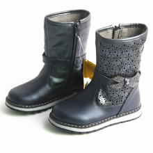 NEW 1pair waterproof Genuine Leather  Children Snow Boots Wi