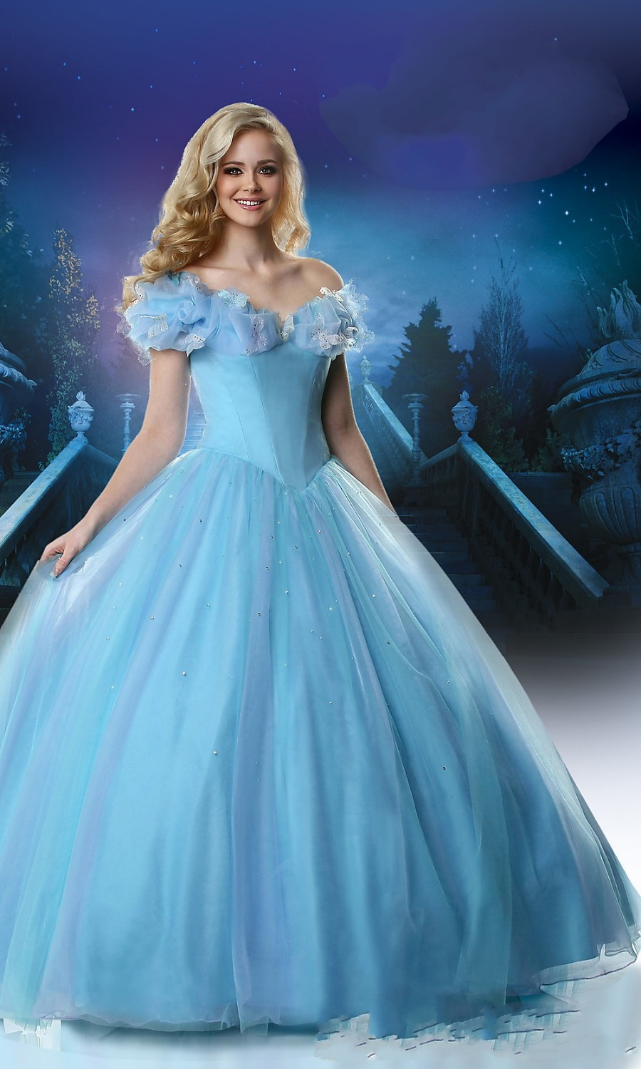 Wedding Ice Blue Dress popular ice blue prom dresses buy cheap lots new arrival 2015 rp10 ball gown party dress for graduation elegant cap