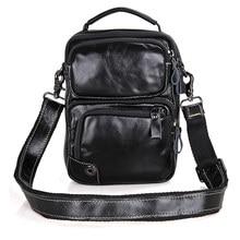 цена JMD Black Natural Cow Leather Men's Messenger Bag Casual Sling Bag for Women Shoulder Bag 1010A в интернет-магазинах