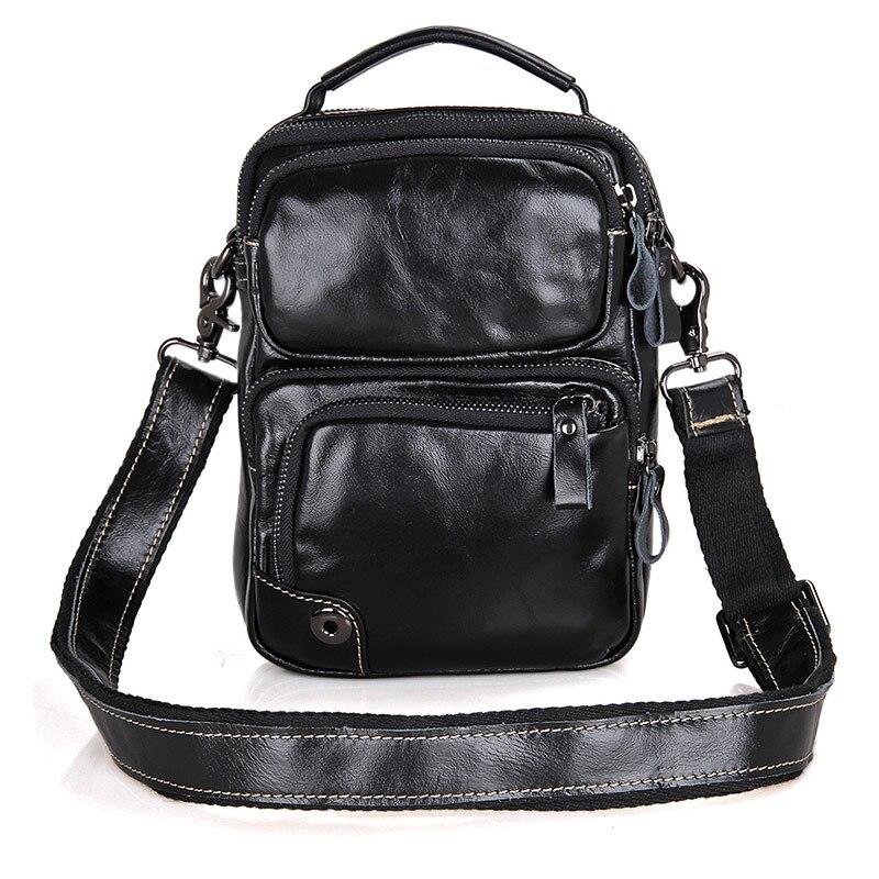 J.M.D noir en cuir de vache naturel sac Messenger pour hommes sac à bandoulière décontracté pour femmes sac à bandoulière 1010A