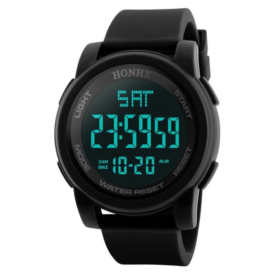 Quartz Wristwatches  Montre Femme Military Luxury Sport     Men  Watch  Silicone Digital   Watches   17NOV30