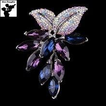 Фотография Women Full Rhinestone Big Large Luxury Crystal Brooches Pins for Women Girl Metal Brooch Pin Diy Jewelry Cute 2017