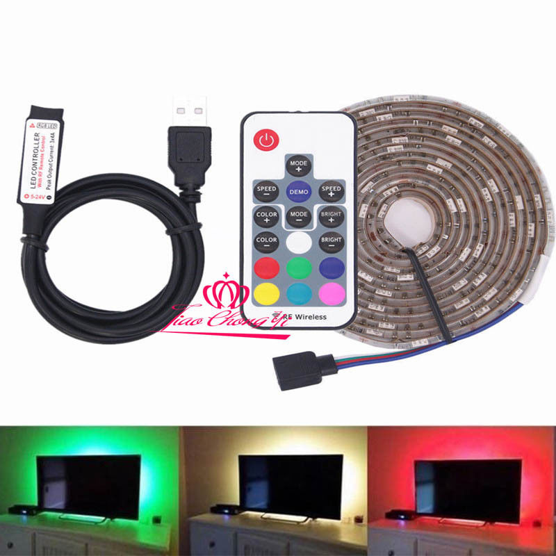 DC5V 5050 RGB LED Strip USB LED Light Strips Flexible Tape 1-5M IP20 and IP65