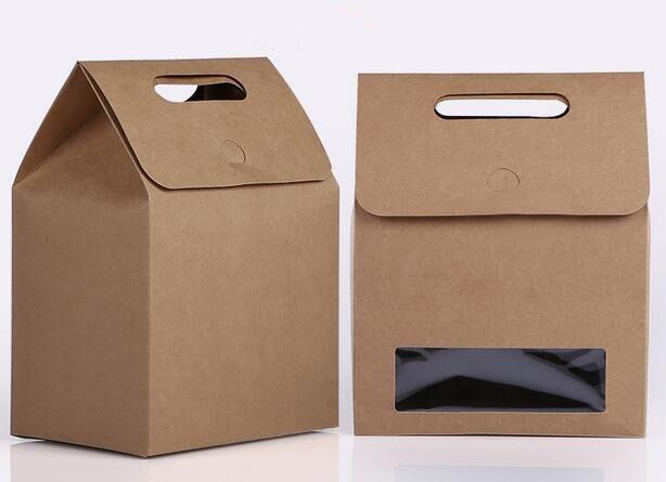 De Papieren Zak : Size bruin papier zakken met venster stand up papieren zak met