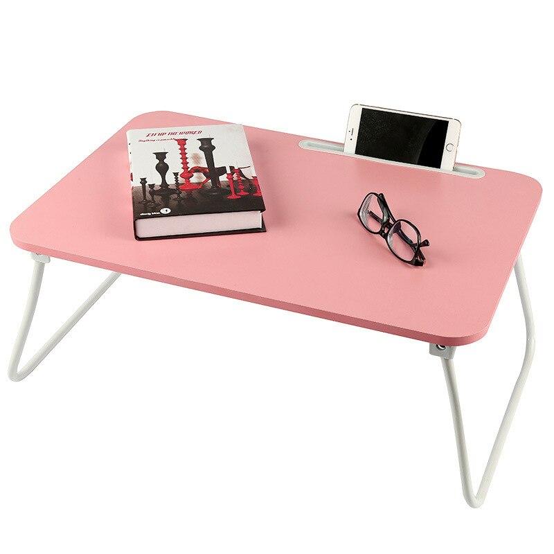 Table d'ordinateur pliante Simple lit d'étudiant Rack de stockage de débris Table d'étude en bois avec rainure cuisine outil de stockage support organisateur