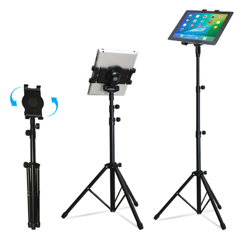 Universal Multi-direction Floor Stand Tablet Tripod Mount Holder For 7-10 Inch for iPad 234 Mini 123 Air 2 Samsung Lenovo universal pu leather case for 9 7 inch 10 inch 10 1 inch tablet pc stand cover for ipad 2 3 4 air 2 for samsung lenovo tablets